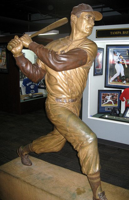 The Sporting Statues Project Ted Williams Ted Williams